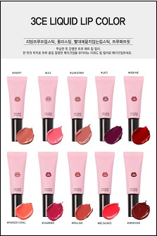 3CE LIQUID LIP COLOR亚光唇彩/唇釉